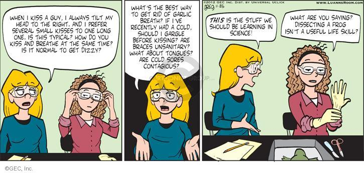 Comic Strip Greg Evans  Luann 2012-11-25 tilt