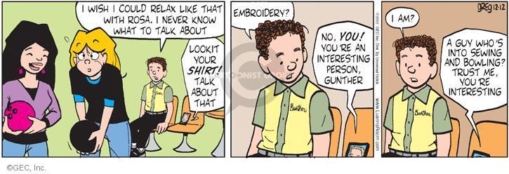Comic Strip Greg Evans  Luann 2012-12-12 shy