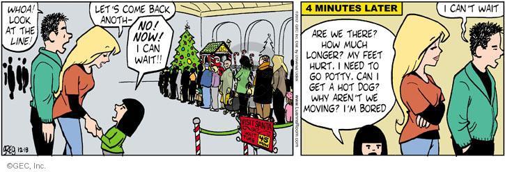 Comic Strip Greg Evans  Luann 2012-12-18 Santa Claus