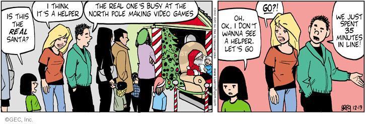 Comic Strip Greg Evans  Luann 2012-12-19 Santa Claus