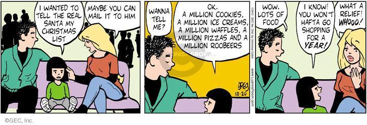 Comic Strip Greg Evans  Luann 2012-12-20 pizza