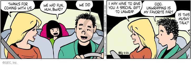 Comic Strip Greg Evans  Luann 2012-12-22 gift