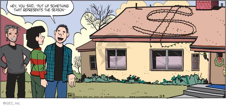 Comic Strip Greg Evans  Luann 2012-12-09 dollar