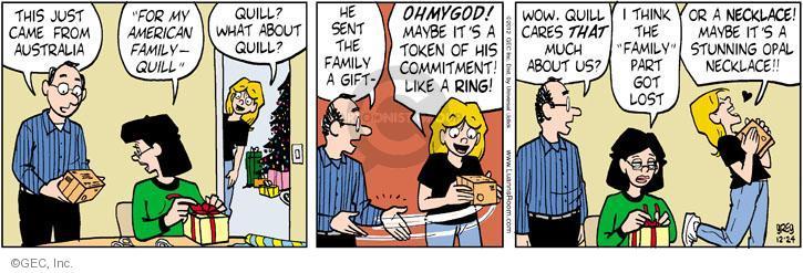 Comic Strip Greg Evans  Luann 2012-12-24 gift
