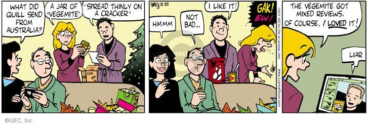 Comic Strip Greg Evans  Luann 2012-12-25 Christmas gift