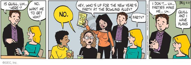 Comic Strip Greg Evans  Luann 2012-12-27 party planning