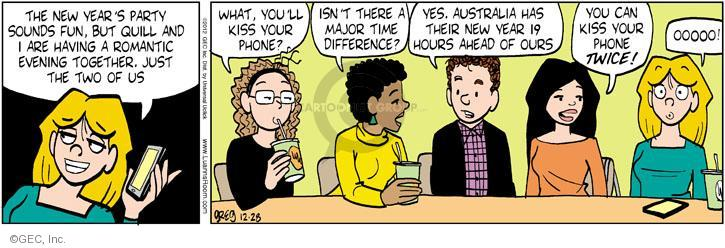 Cartoonist Greg Evans  Luann 2012-12-28 ahead
