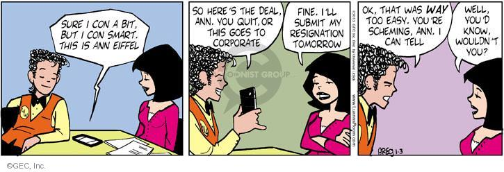 Comic Strip Greg Evans  Luann 2013-01-03 tomorrow