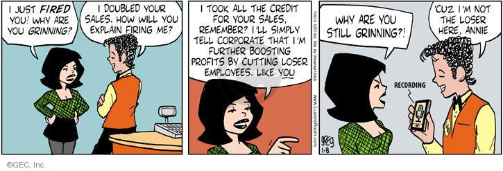 Comic Strip Greg Evans  Luann 2013-01-08 manager