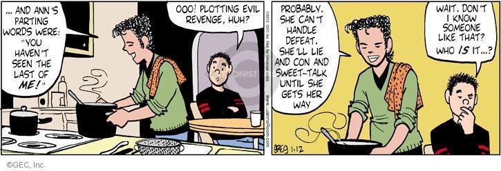 Comic Strip Greg Evans  Luann 2013-01-12 lie