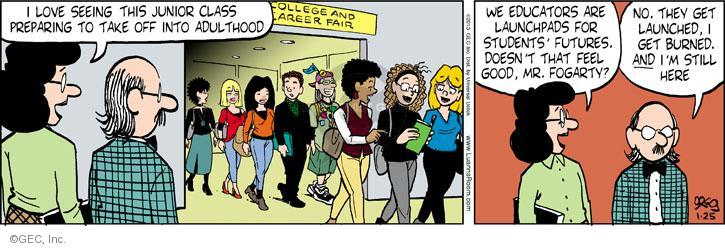 Comic Strip Greg Evans  Luann 2013-01-25 college teacher