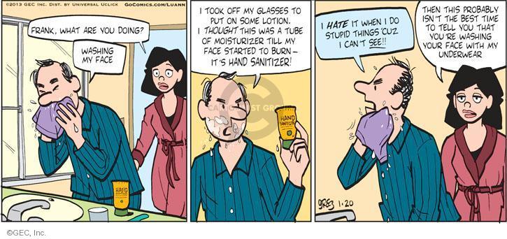 Comic Strip Greg Evans  Luann 2013-01-20 burn