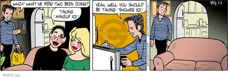 Comic Strip Greg Evans  Luann 2013-02-02 whoa
