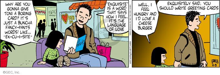 Cartoonist Greg Evans  Luann 2013-02-08 Valentine's Day