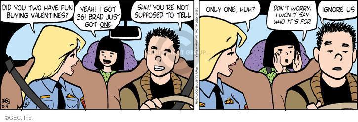 Cartoonist Greg Evans  Luann 2013-02-09 Valentine's Day