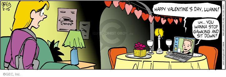 Cartoonist Greg Evans  Luann 2013-02-15 Valentine's Day