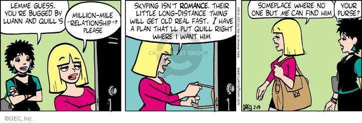 Comic Strip Greg Evans  Luann 2013-02-19 teen