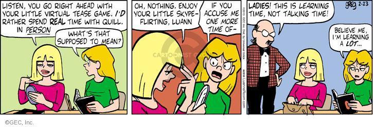 Comic Strip Greg Evans  Luann 2013-02-23 game