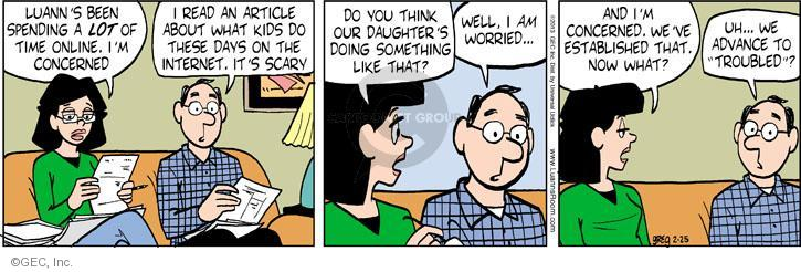 Comic Strip Greg Evans  Luann 2013-02-25 teen