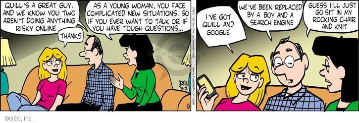 Cartoonist Greg Evans  Luann 2013-03-02 parental