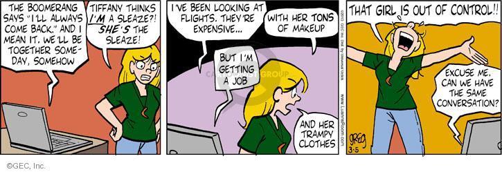 Comic Strip Greg Evans  Luann 2013-03-05 flight
