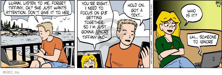 Comic Strip Greg Evans  Luann 2013-03-06 focus