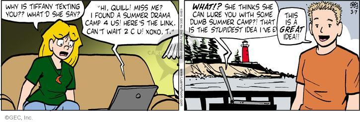 Comic Strip Greg Evans  Luann 2013-03-07 camp