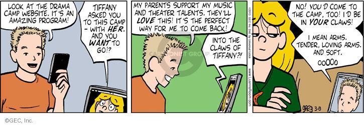 Comic Strip Greg Evans  Luann 2013-03-08 way back