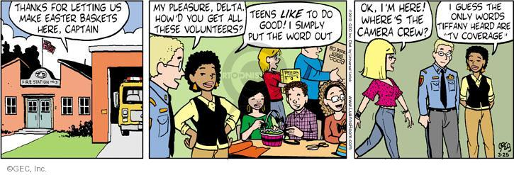 Comic Strip Greg Evans  Luann 2013-03-25 volunteer