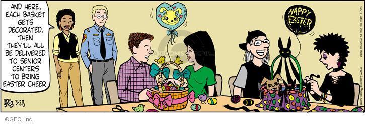 Comic Strip Greg Evans  Luann 2013-03-28 Easter basket