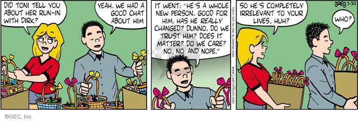 Comic Strip Greg Evans  Luann 2013-03-30 ex-boyfriend