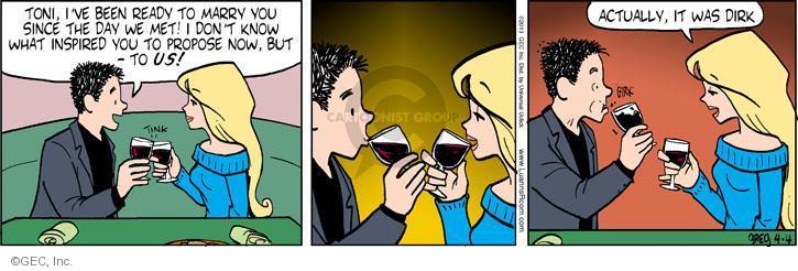 Comic Strip Greg Evans  Luann 2013-04-04 propose