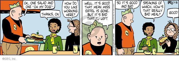 Comic Strip Greg Evans  Luann 2013-03-18 restaurant server
