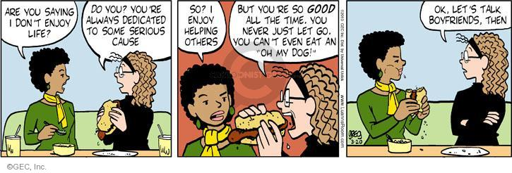 Comic Strip Greg Evans  Luann 2013-03-20 fast food
