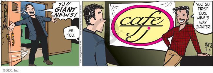 Comic Strip Greg Evans  Luann 2013-04-08 first