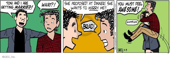 Comic Strip Greg Evans  Luann 2013-04-09 propose