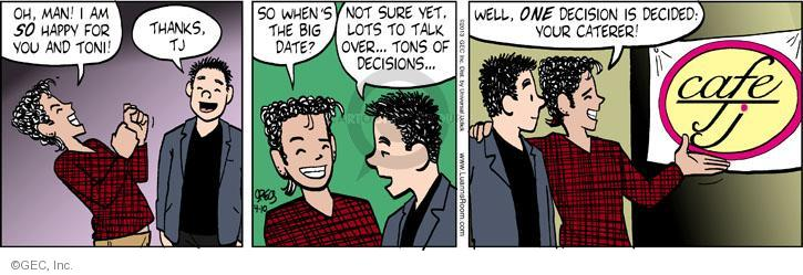 Cartoonist Greg Evans  Luann 2013-04-10 big date