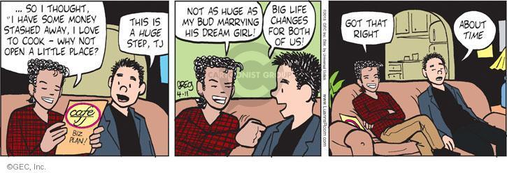 Comic Strip Greg Evans  Luann 2013-04-11 milestone