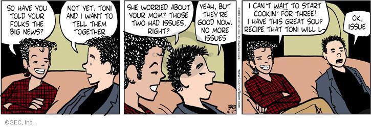 Comic Strip Greg Evans  Luann 2013-04-12 Toni