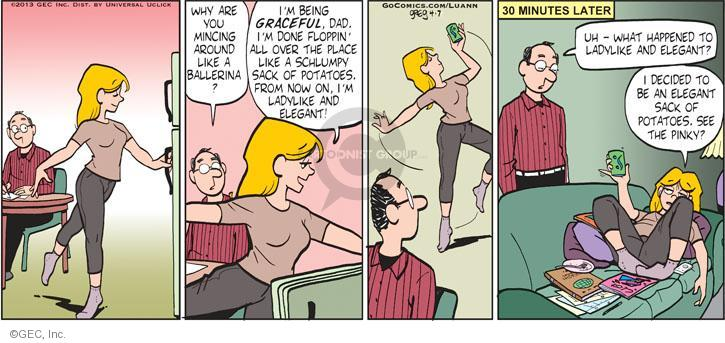 Comic Strip Greg Evans  Luann 2013-04-07 laziness