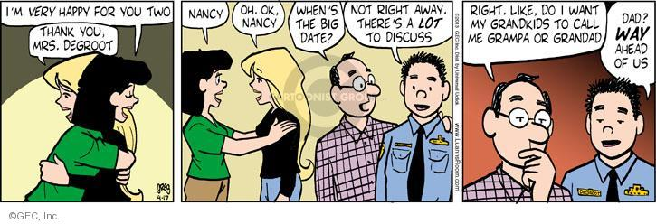 Cartoonist Greg Evans  Luann 2013-04-17 big date
