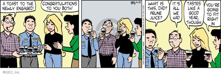 Comic Strip Greg Evans  Luann 2013-04-19 engagement