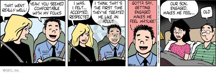 Comic Strip Greg Evans  Luann 2013-04-20 get old