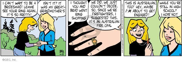 Cartoonist Greg Evans  Luann 2013-04-23 date