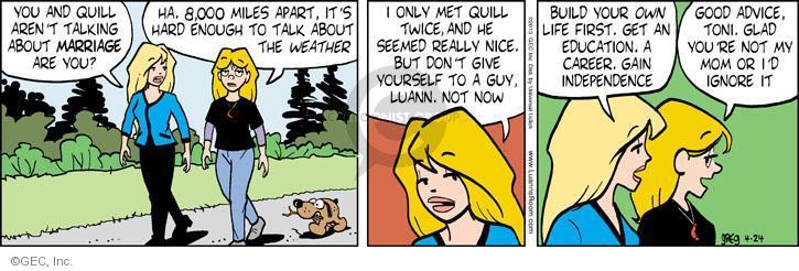 Comic Strip Greg Evans  Luann 2013-04-24 gain