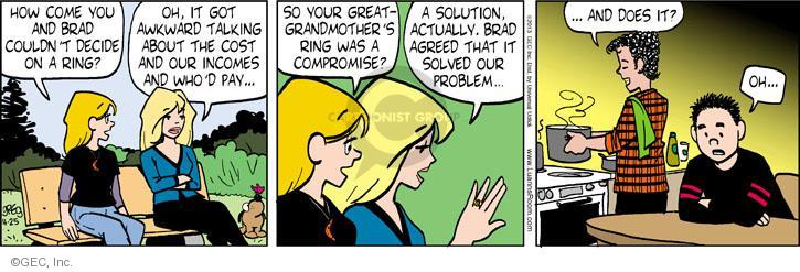 Comic Strip Greg Evans  Luann 2013-04-25 engagement