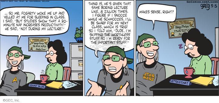 Comic Strip Greg Evans  Luann 2013-05-05 class