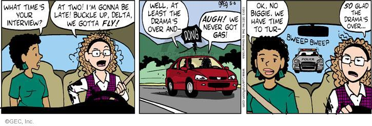 Comic Strip Greg Evans  Luann 2013-05-06 law enforcement