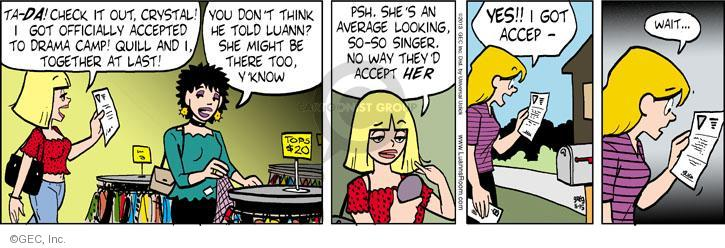 Comic Strip Greg Evans  Luann 2013-05-15 crystal
