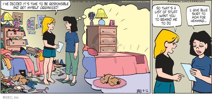Comic Strip Greg Evans  Luann 2013-05-12 motherhood